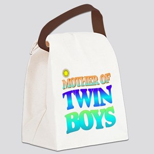 Twin boys mother Canvas Lunch Bag