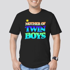 Twin boys mother Men's Fitted T-Shirt (dark)