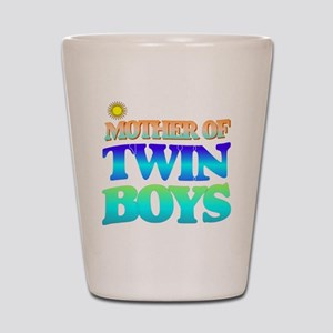 Twin boys mother Shot Glass