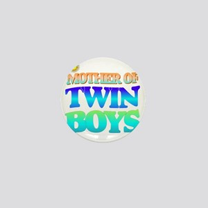 Twin boys mother Mini Button