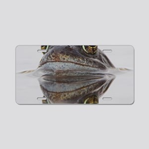 Common frog spawning Aluminum License Plate