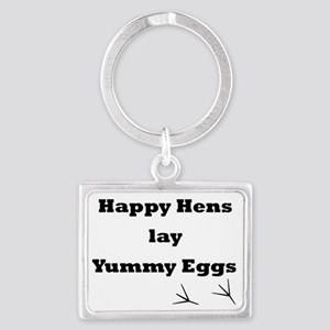 Happy Hens Landscape Keychain