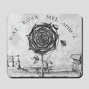 Rosicrucian mystical symbol Mousepad