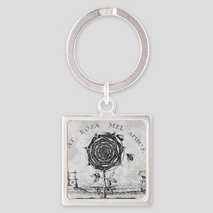 Rosicrucian mystical symbol Square Keychain