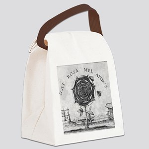 Rosicrucian mystical symbol Canvas Lunch Bag