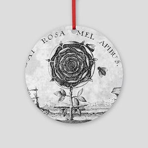 Rosicrucian mystical symbol Round Ornament
