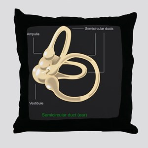 Semicircular canal, diagram Throw Pillow