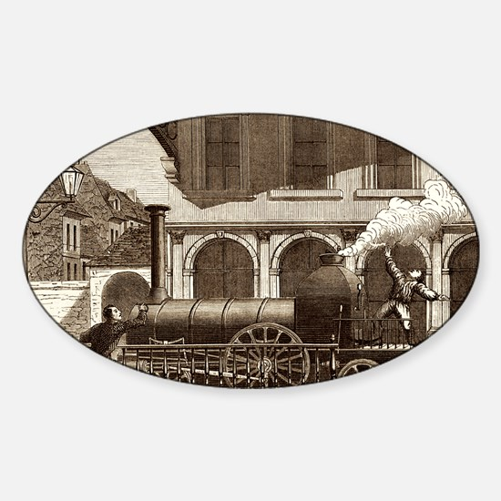 Steam electricity Sticker (Oval)
