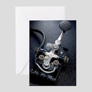 Telegraph Key (Morse Code) Type J-37 Greeting Card