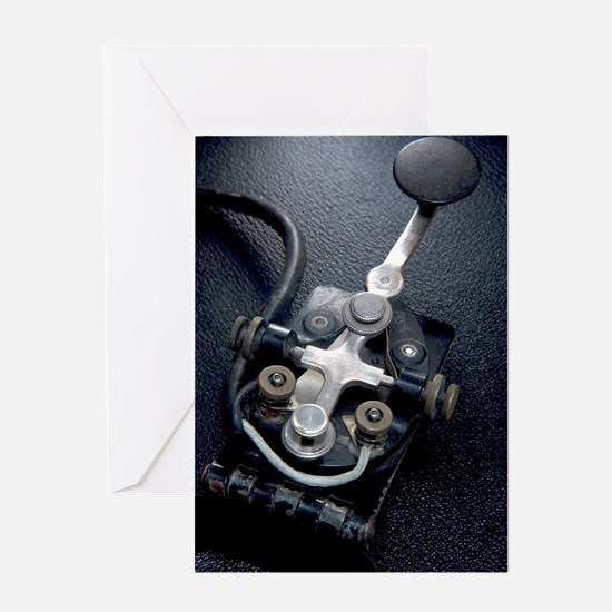 Telegraph Key (Morse Code) Type J-37 Greeting Card