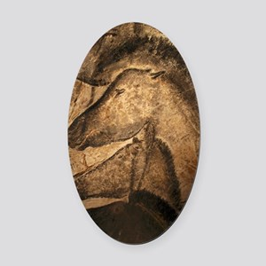 Stone-age cave paintings, Chauvet, Oval Car Magnet