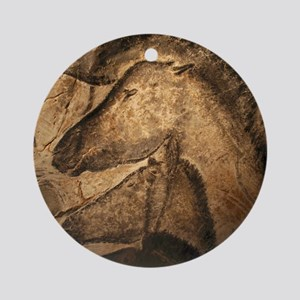 Stone-age cave paintings, Chauvet,  Round Ornament
