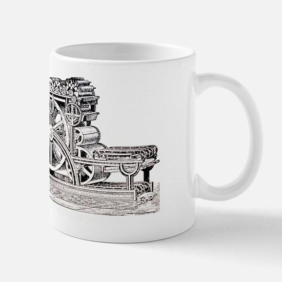 Engraving of the Bullock Rotary Press o Mug
