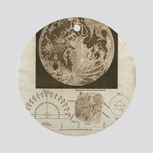 Early map of the Moon, 1810 Round Ornament