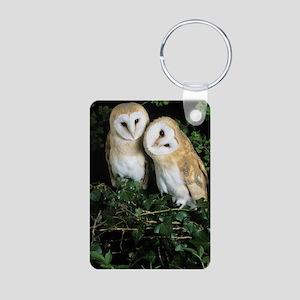 Barn owls Aluminum Photo Keychain