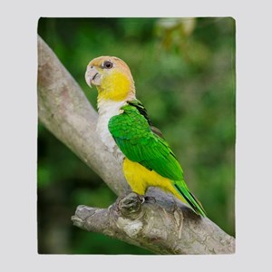 White-bellied parrot Throw Blanket