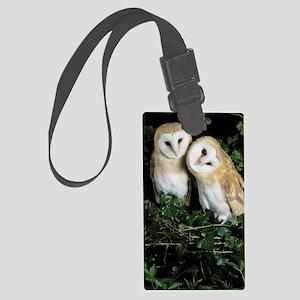 Barn owls Large Luggage Tag