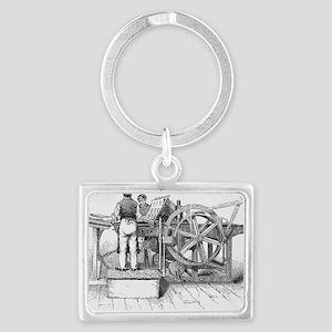 Napier's printing machine Landscape Keychain