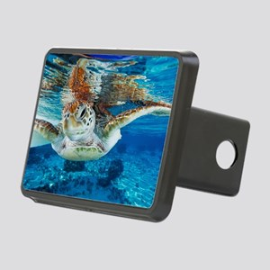 Green turtle Rectangular Hitch Cover