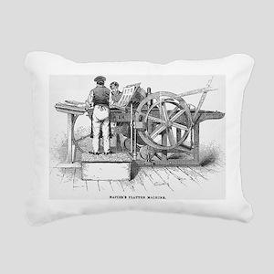 Napier's printing machin Rectangular Canvas Pillow