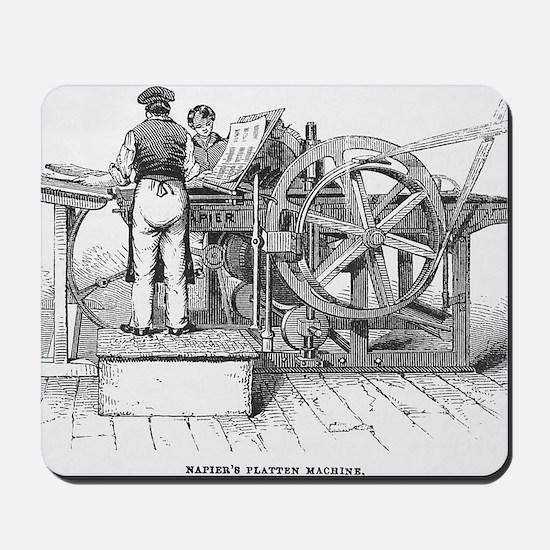 Napier's printing machine Mousepad