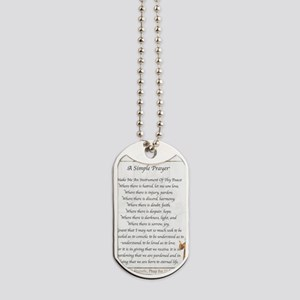 Saint Pope Francis Simple Prayer Dog Tags