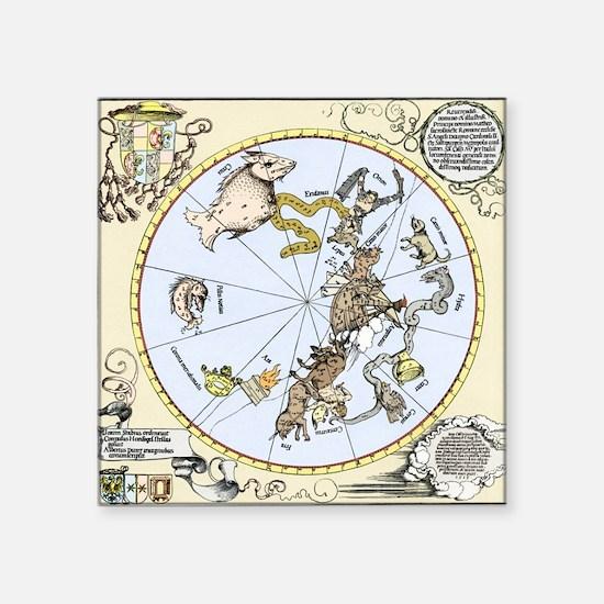 """Durer's Celestial Globe, 15 Square Sticker 3"""" x 3"""""""