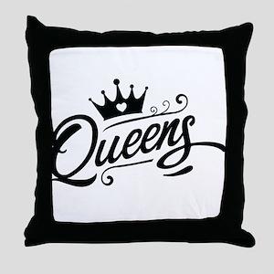 Queens Throw Pillow