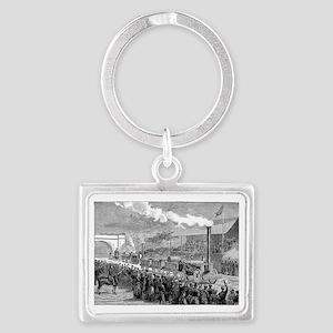 Rainhill Trials, October 1829 Landscape Keychain