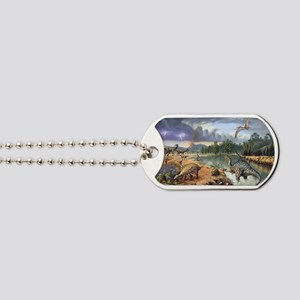 Early Cretaceous life, artwork Dog Tags