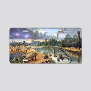 Early Cretaceous life, artw Aluminum License Plate