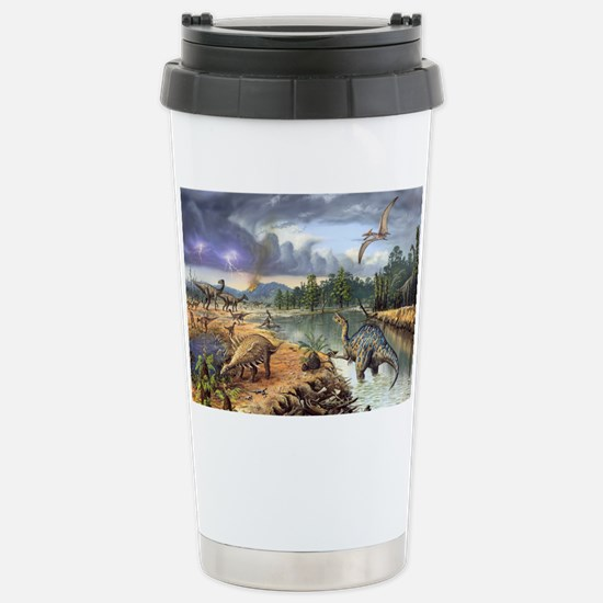 Early Cretaceous life,  Stainless Steel Travel Mug