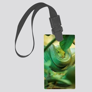Green tree python Large Luggage Tag