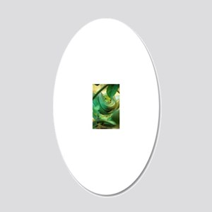Green tree python 20x12 Oval Wall Decal