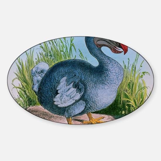 Extinct dodo Sticker (Oval)