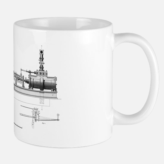 High-pressure steam engine, 19th centur Mug