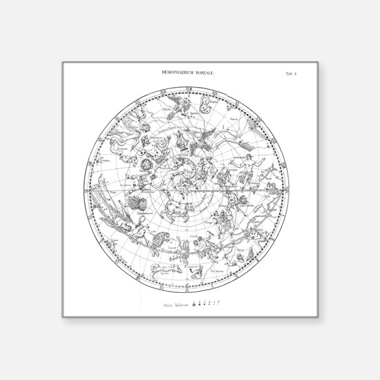 """Northern celestial map Square Sticker 3"""" x 3"""""""