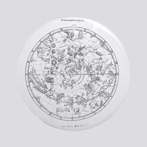Northern celestial map Round Ornament
