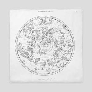 Northern celestial map Queen Duvet