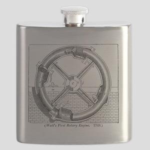 Watt's rotary engine Flask