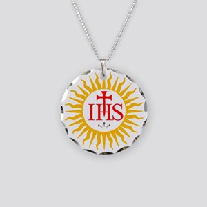 IHS JESUIT SEAL Necklace Circle Charm