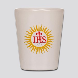 IHS JESUIT SEAL Shot Glass