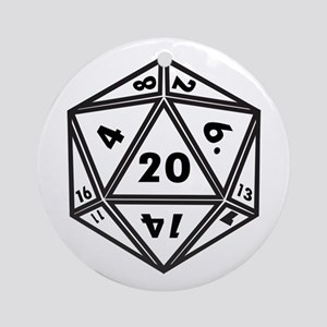 d20 Round Ornament