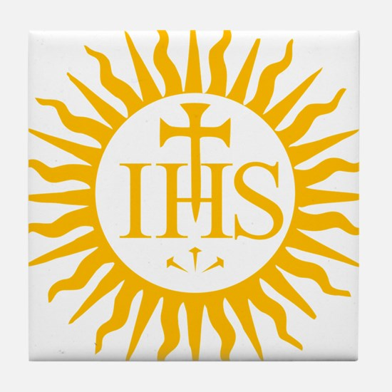 IHS JESUIT SEAL Tile Coaster