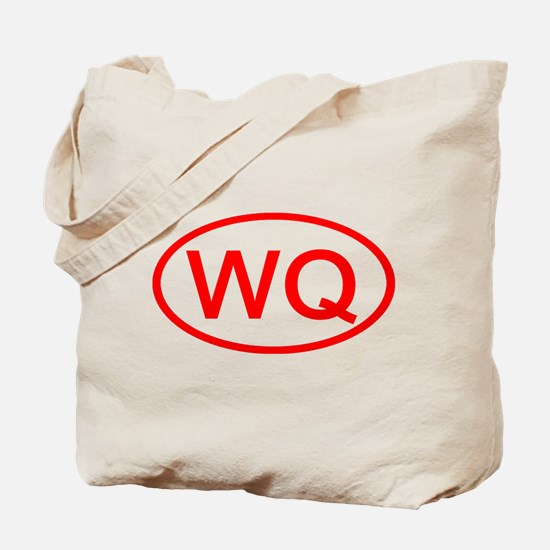 WQ Oval (Red) Tote Bag