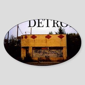 Detroit Sticker (Oval)