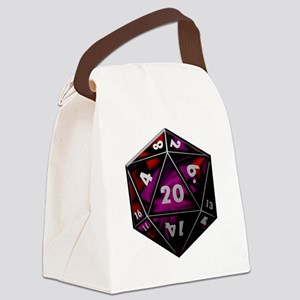 D20 color Canvas Lunch Bag
