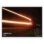 Train / Railroad - Small Poster Train at Night