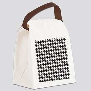 Houndstooth Canvas Lunch Bag