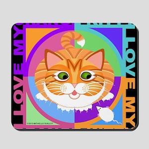 Orange Kitty Cat Graphics Mousepad